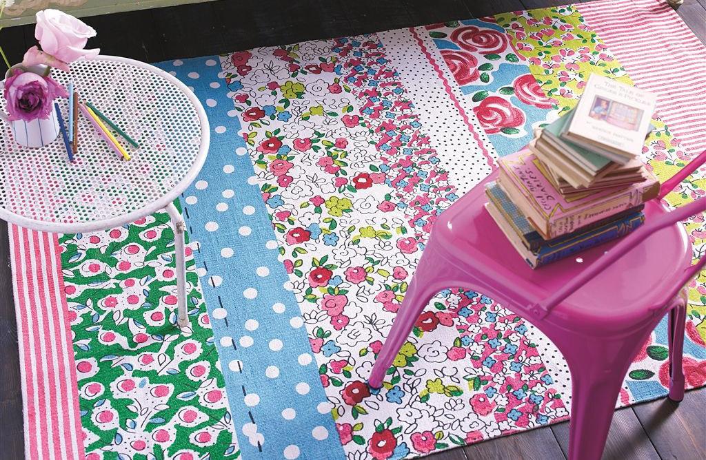 Ковер Designers Guild, Daisy Stripe Peony Kids Детский Ковер - 170 x 120cm