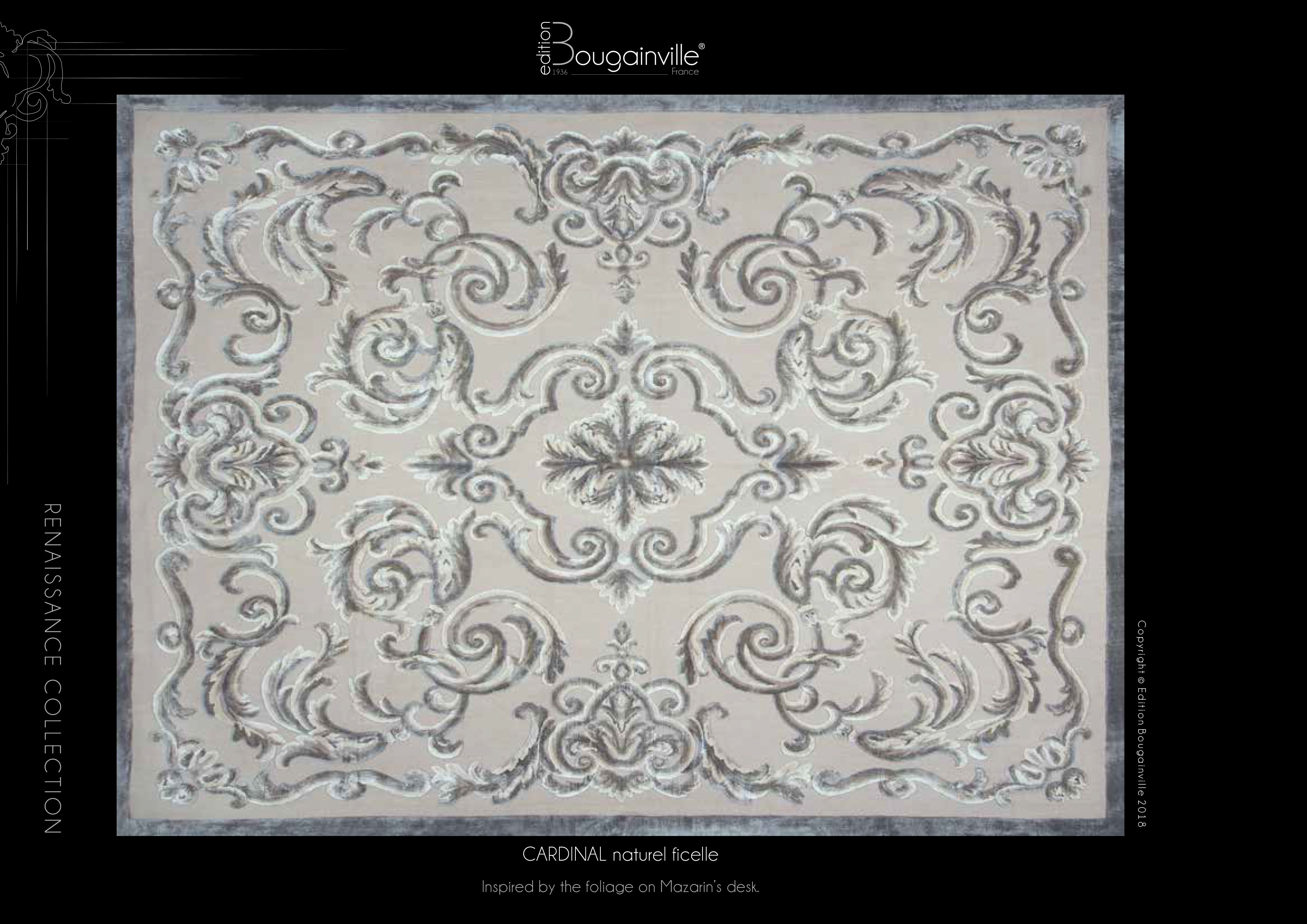 Ковер Edition Bougainville, CARDINAL naturel ficelle