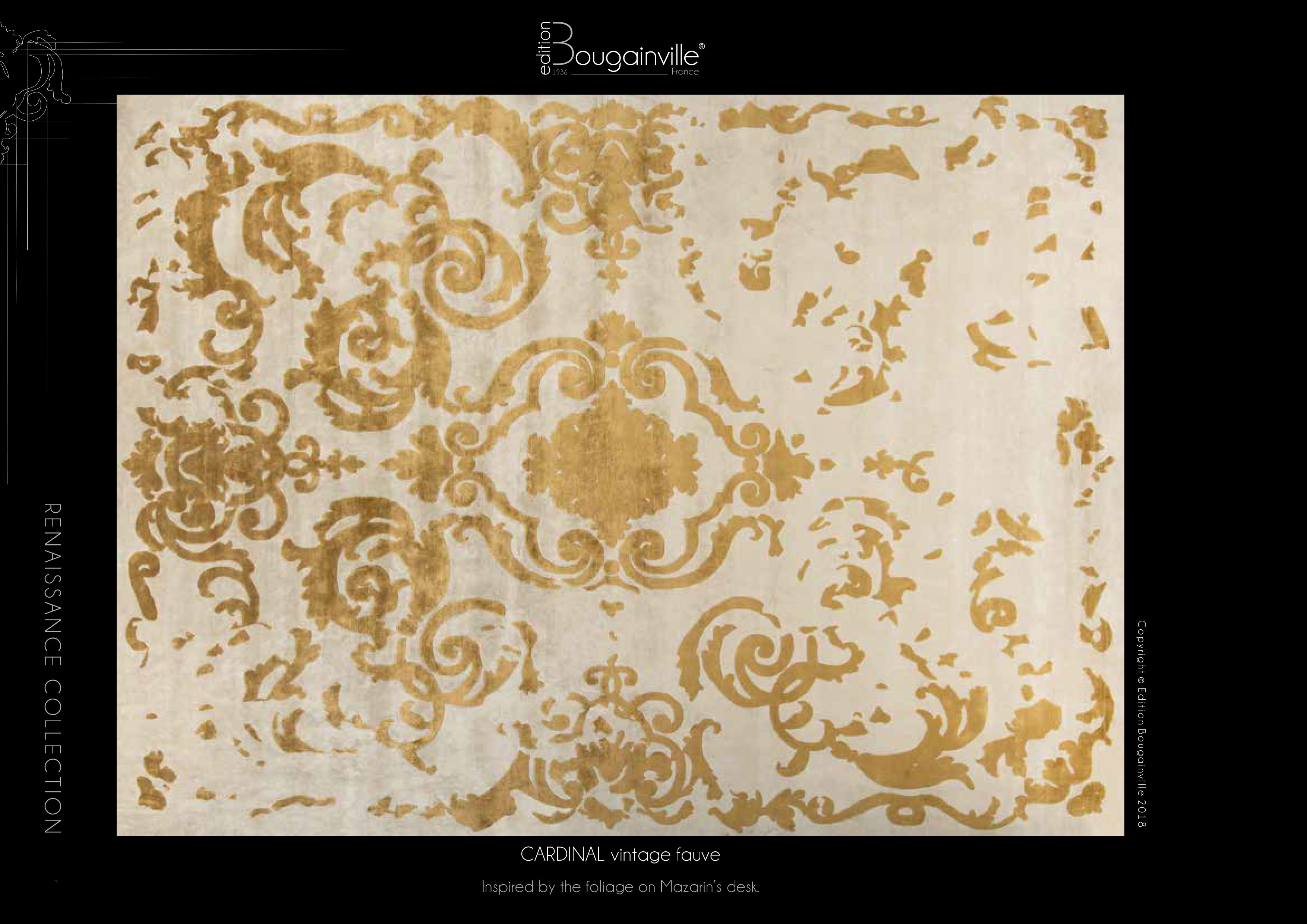 Ковер Edition Bougainville, CARDINAL vintage fauve