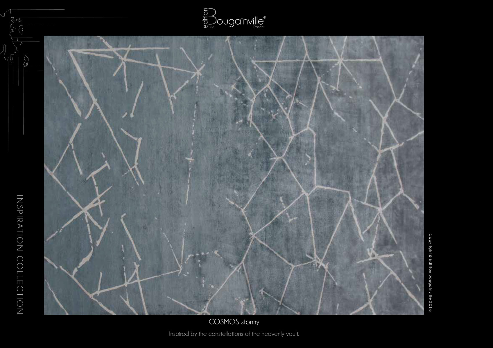 Ковер Edition Bougainville, COSMOS stormy