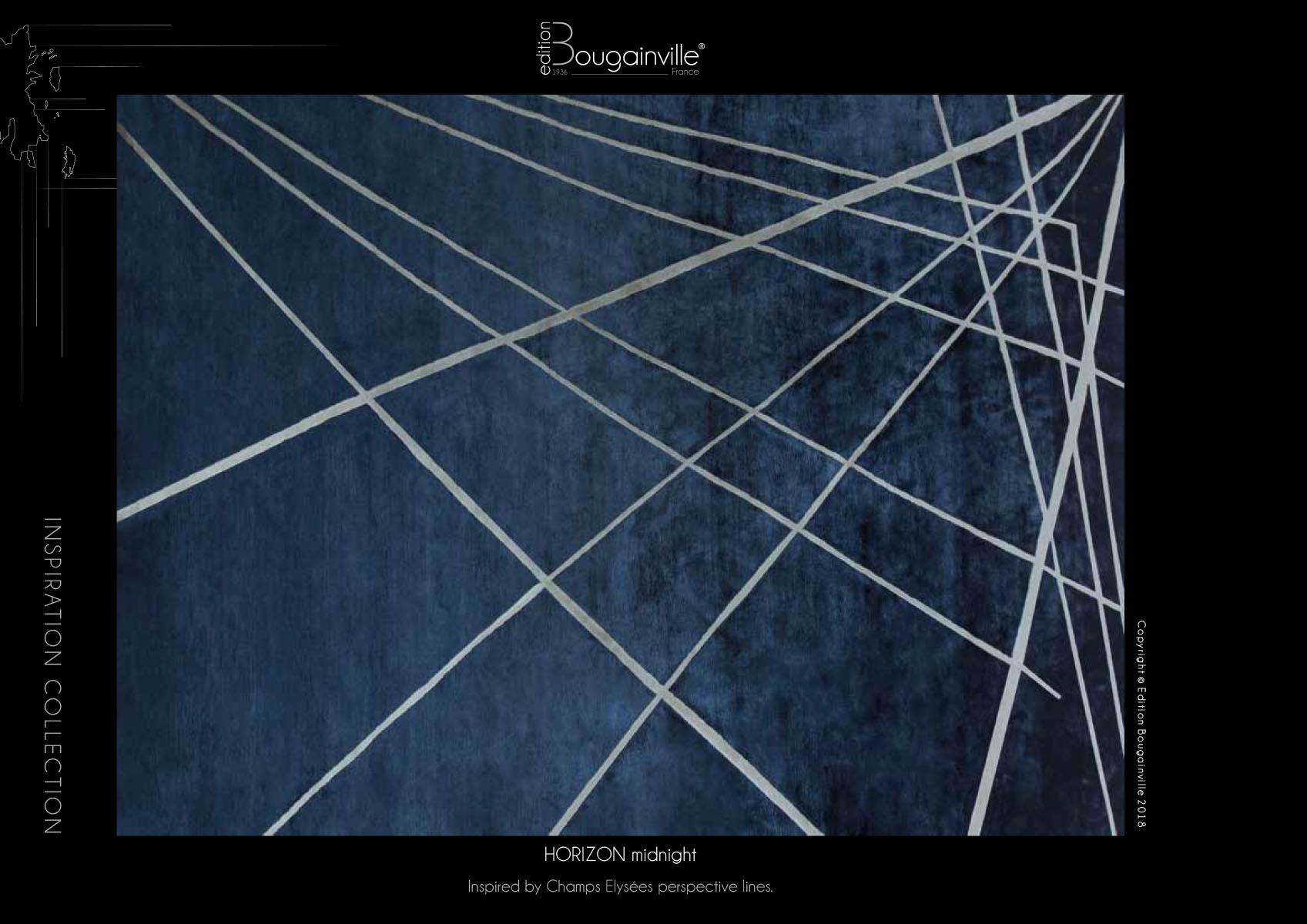 Ковер Edition Bougainville, HORIZON midnight