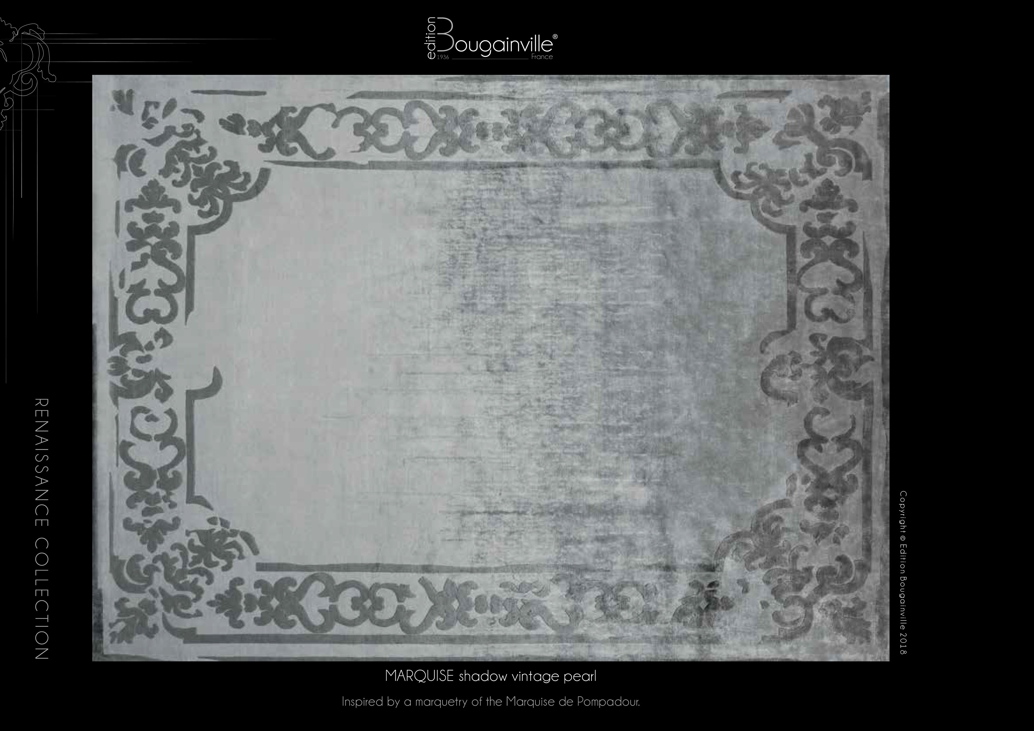 Ковер Edition Bougainville, MARQUISE shadow vintage pearl
