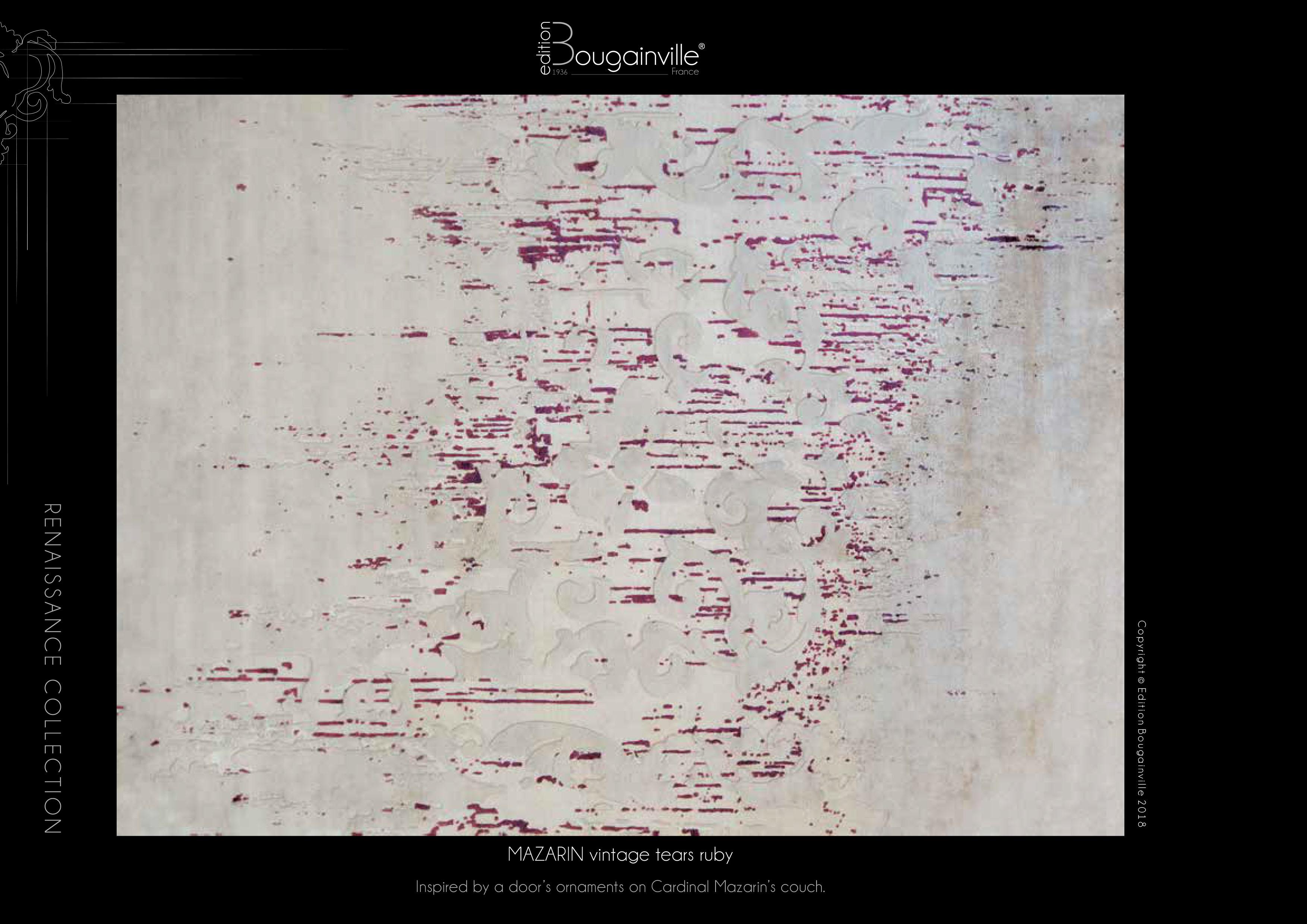Ковер Edition Bougainville, MAZARIN vintage tears ruby