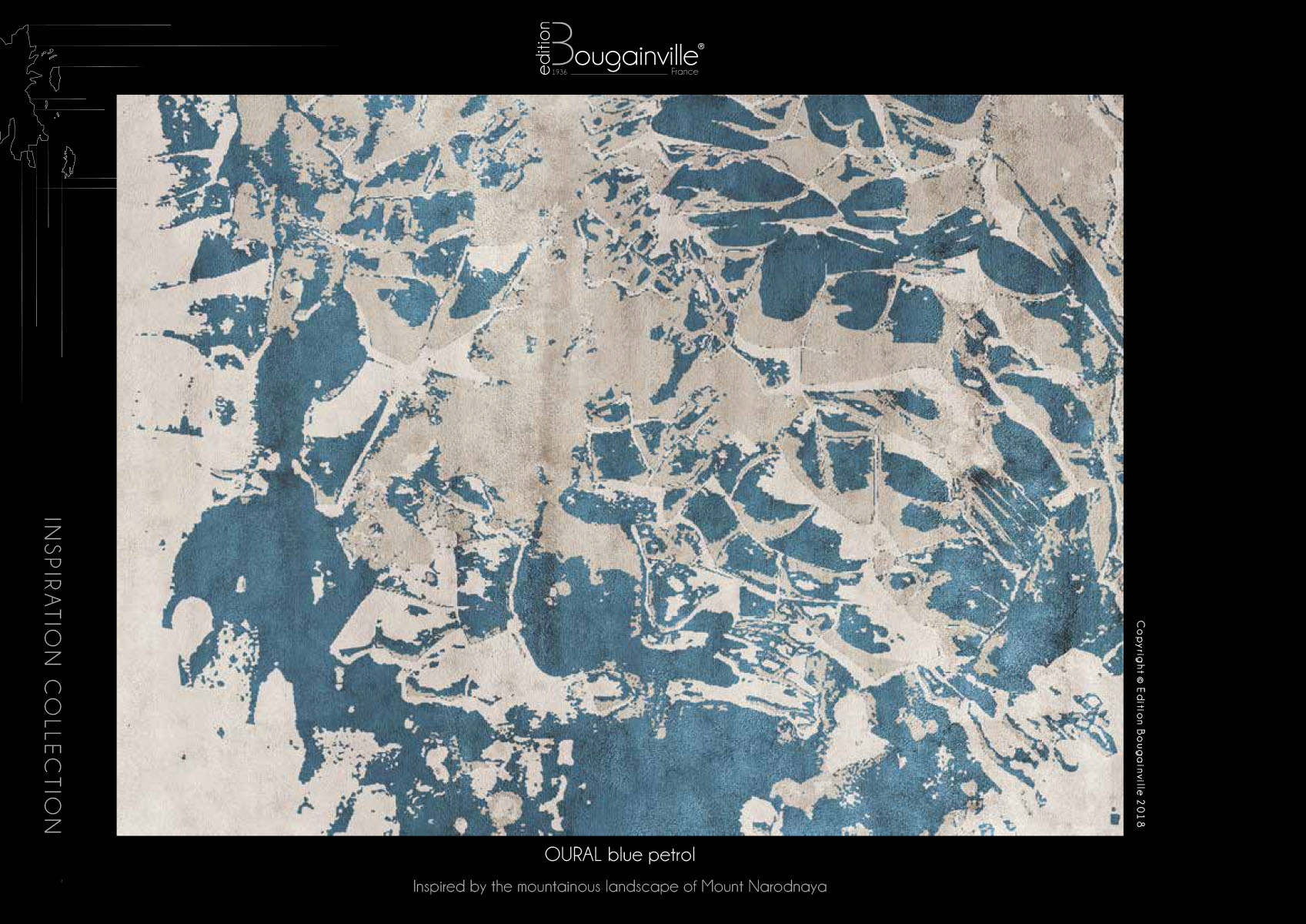 Ковер Edition Bougainville, OURAL blue petrol