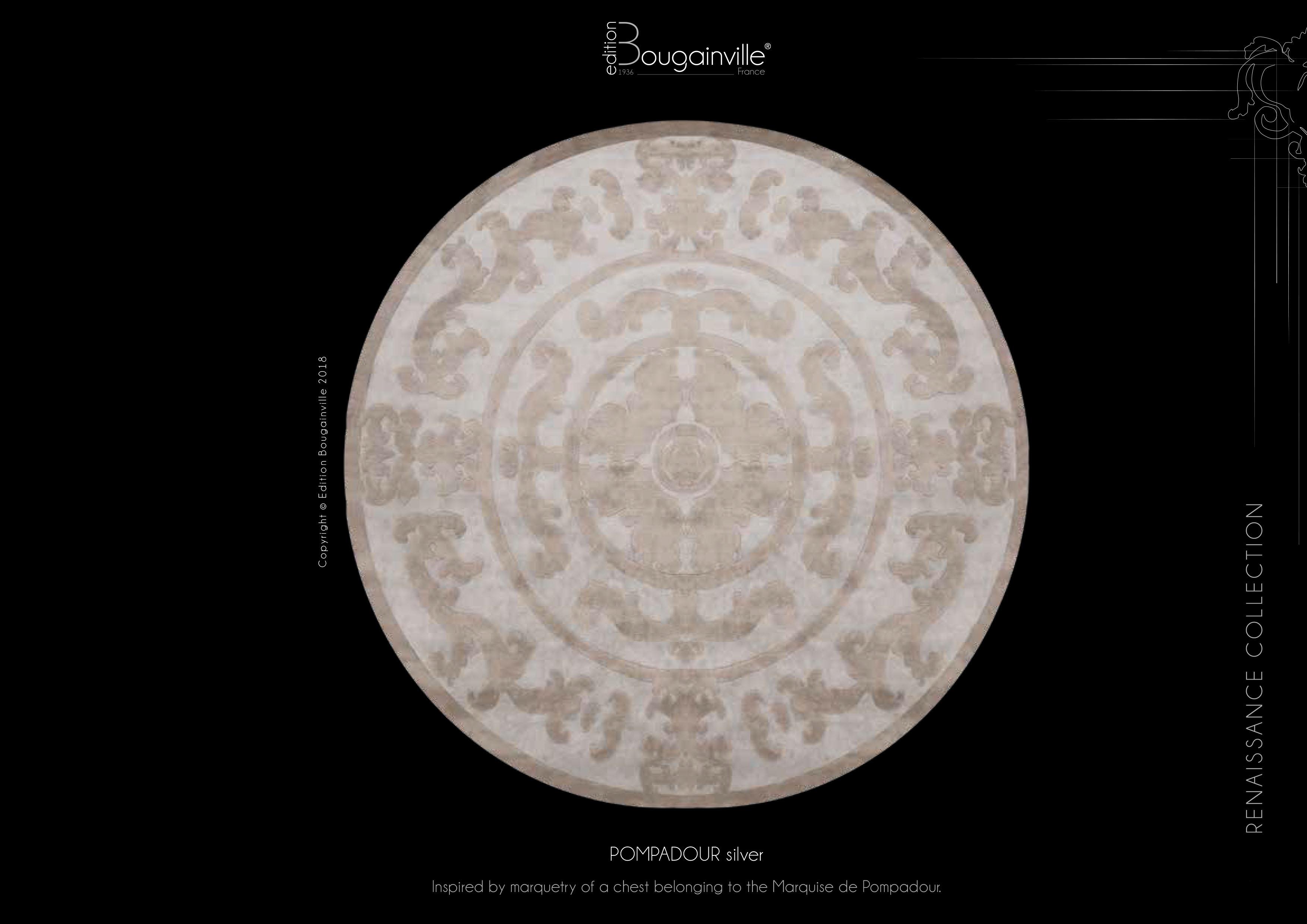 Ковер Edition Bougainville, POMPADOUR silver