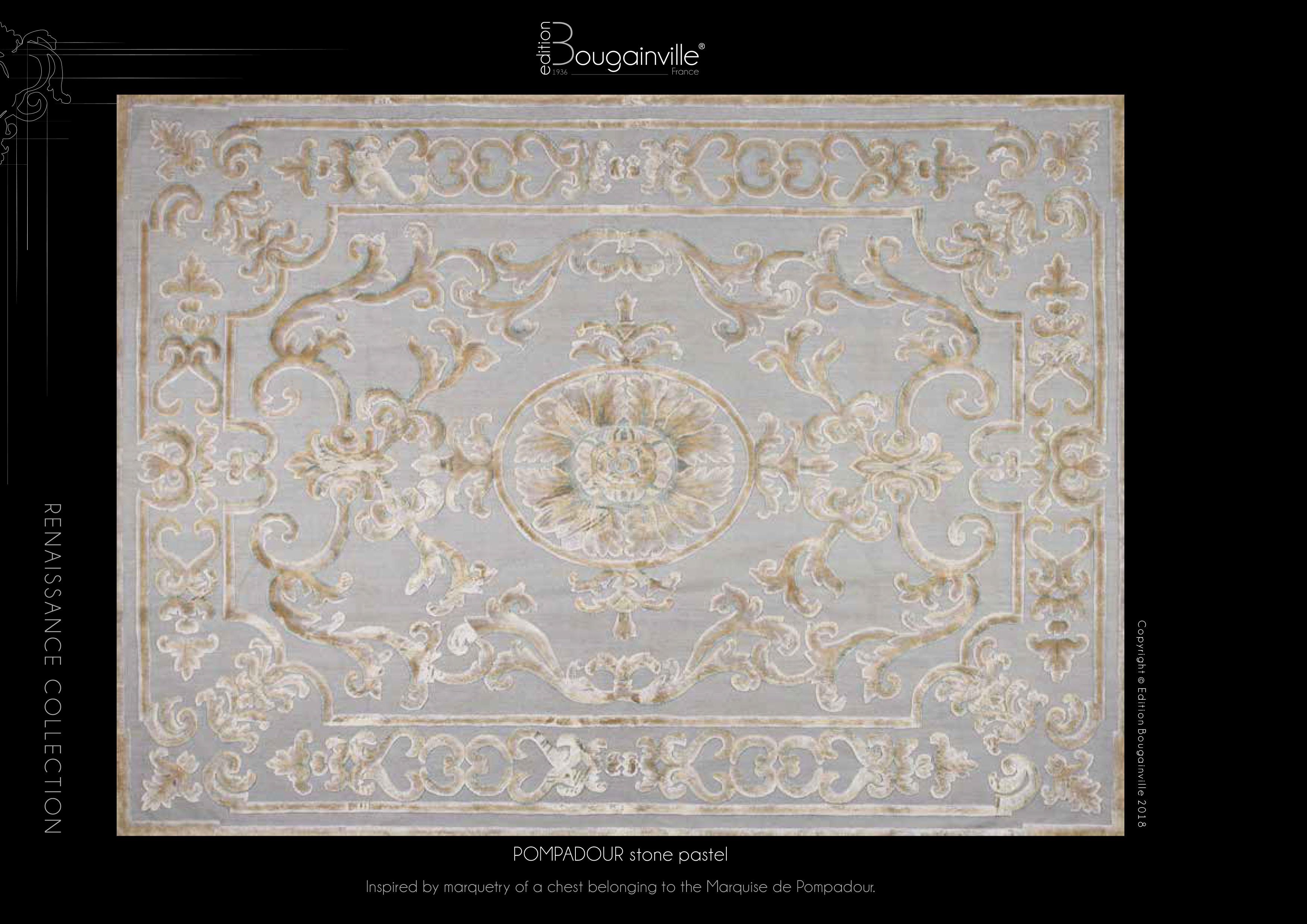 Ковер Edition Bougainville, POMPADOUR stone pastel