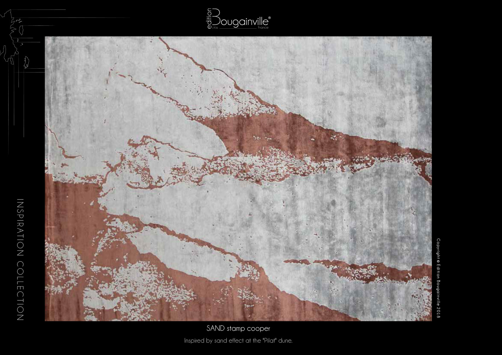 Ковер Edition Bougainville, SAND stamp cooper