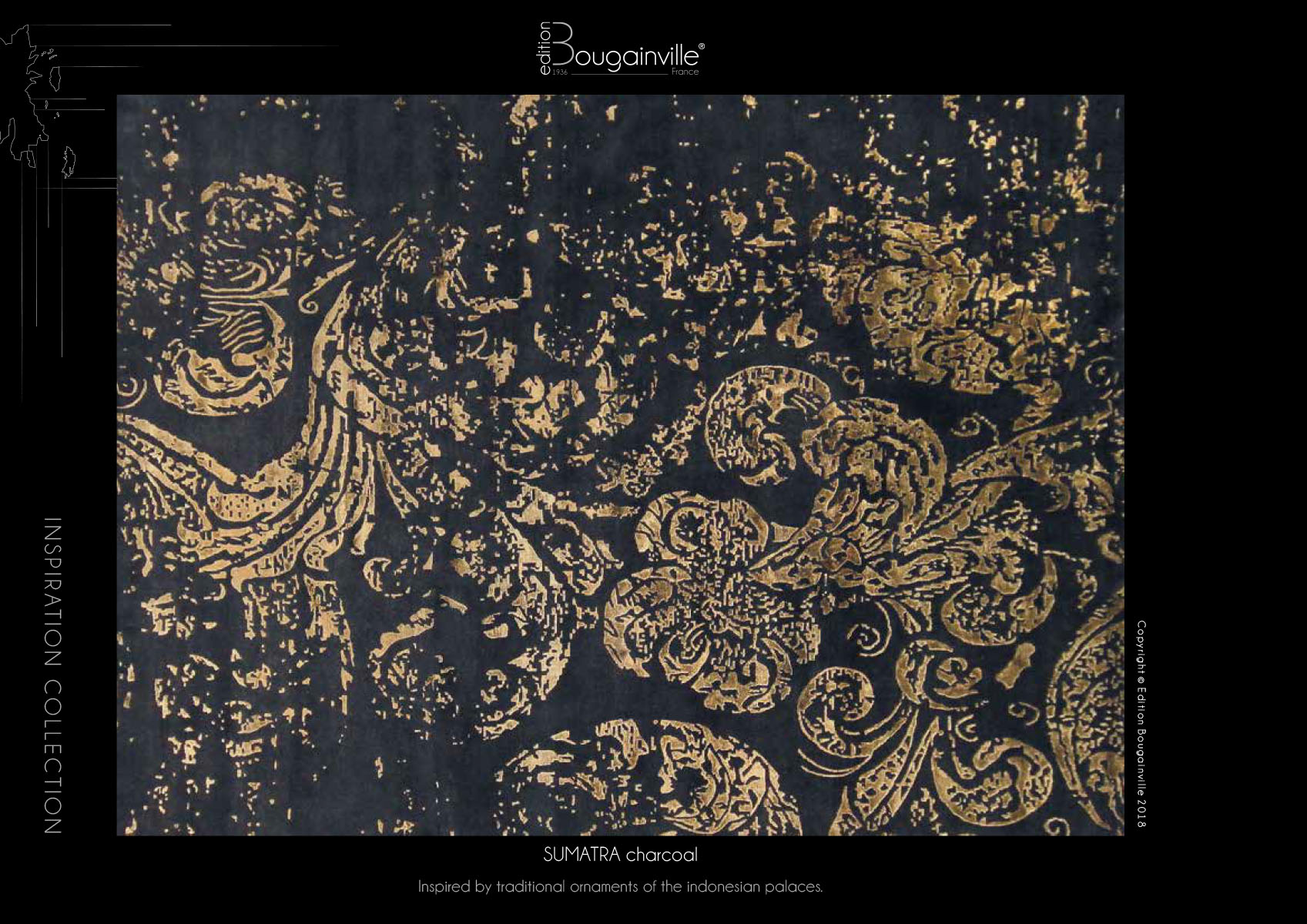 Ковер Edition Bougainville, SUMATRA charcoal