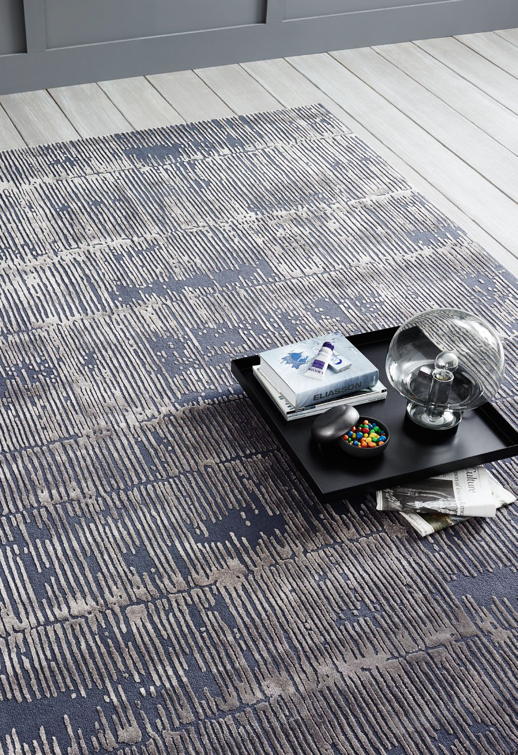 Ковер Sahco, Rug ASSAM T017-01 FTH-282 grey (Pile - Flor) FTH-101 shadow (Ground - Fond)