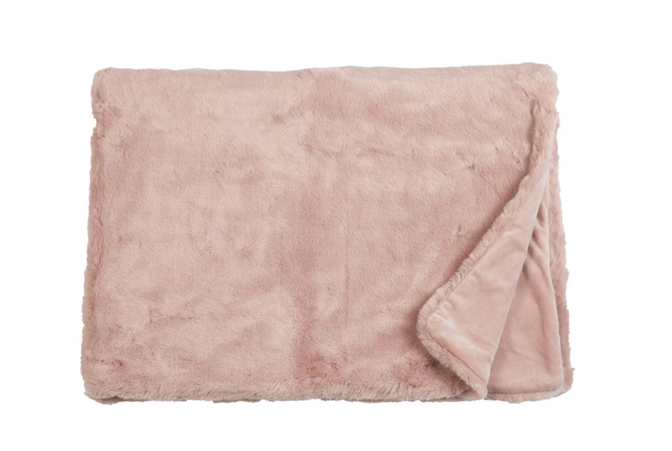 Плед Fine, Collection: Furry<br>Material: Fell / Fur: 80 % PAN / 20 % PES, Ruckseite / Rear: 100 % PES<br>Size: 140 x 190 cm<br>FURRY цвет ROSE