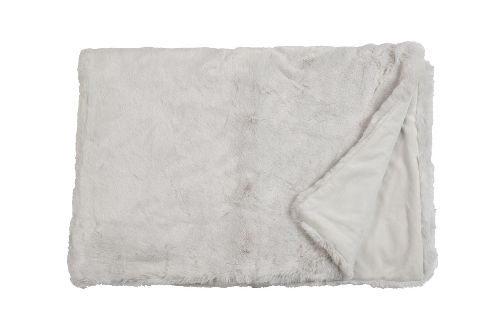 Плед Fine, Collection: Furry<br>Material: Fell / Fur: 80 % PAN / 20 % PES, Ruckseite / Rear: 100 % PES<br>Size: 140 x 190 cm<br>FURRY цвет WHITE