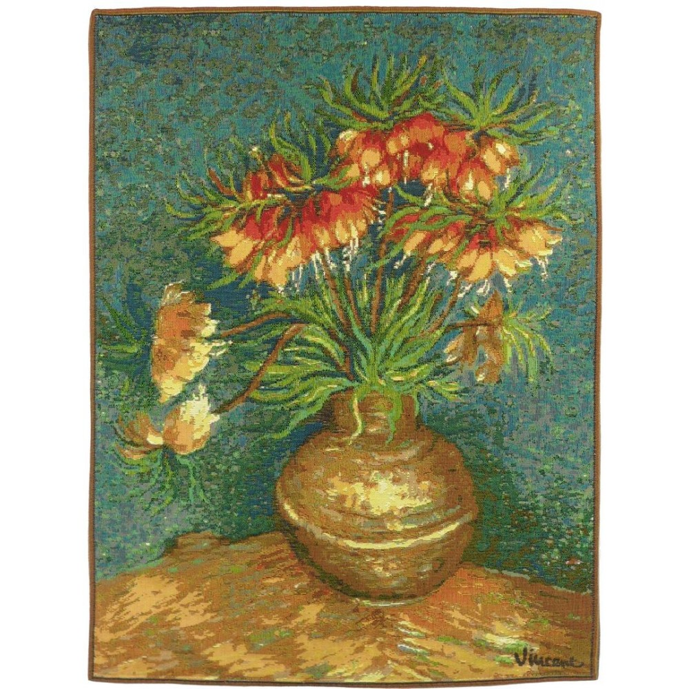 "Art De Lys, Ref.5141a; Bunch of Lillies by Van Gogh<br>67 x 50 cm - 26"" x 20"""