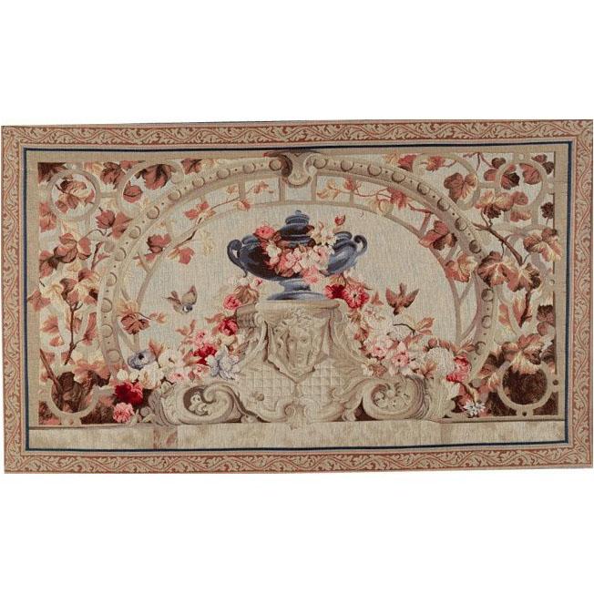 """Art De Lys, Ref.7854m; Beauvais feuilles marrons<br> 75 x 125 cm - 29"""" x 49"""""""