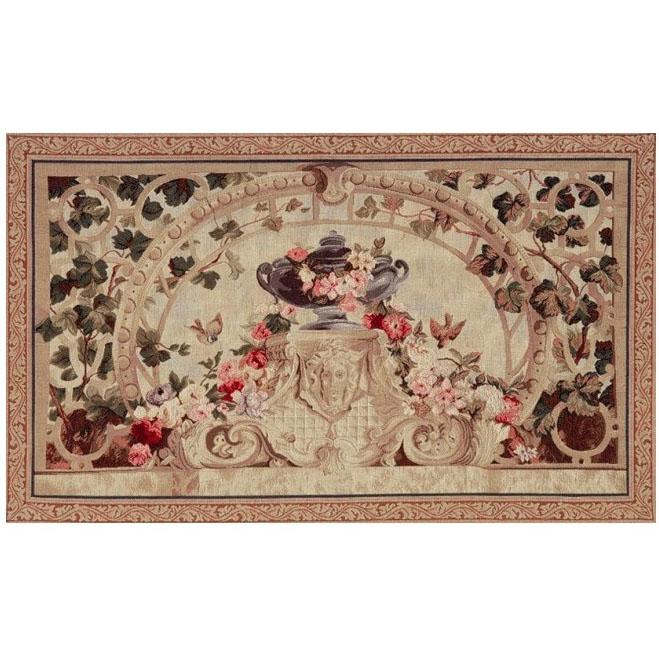 "Art De Lys, Ref.7854v; Beauvais feuilles marrons<br> 75 x 125 cm - 29"" x 49"""