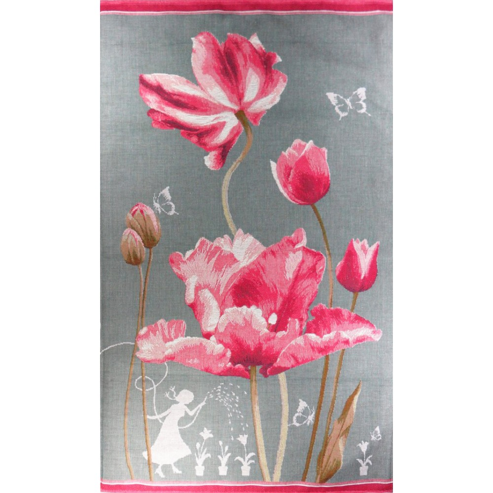 "Art De Lys, Ref.8961; Tulips grey background<br>90 x 50 cm - 35"" x 20"""