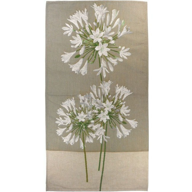 "Art De Lys, Ref.8972; Agapanthus, beige background<br>90 x 50 cm - 35"" x 20"""