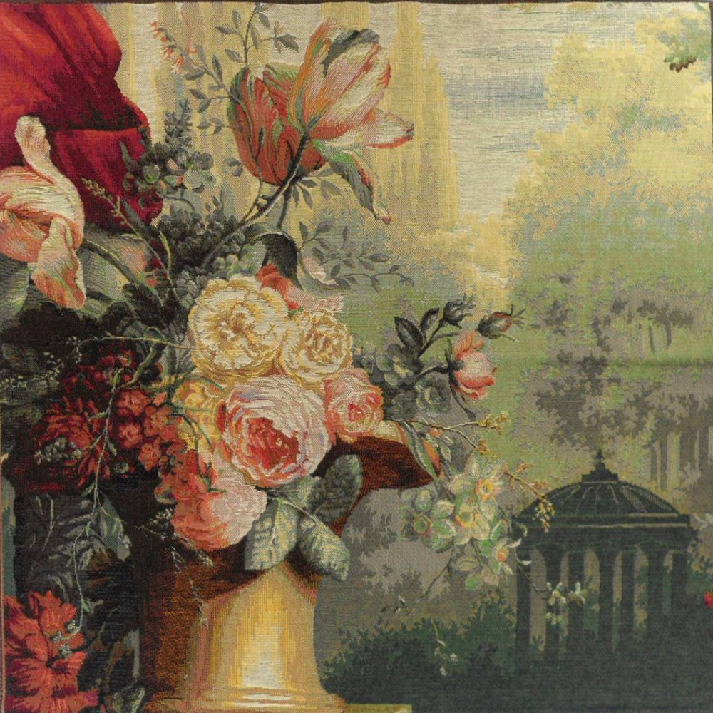 "Art De Lys, Ref.9237; Kiosk and flowers<br>75 x 75 cm - 29"" x 29"""