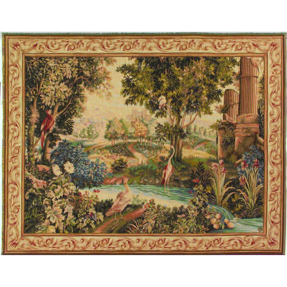 Art De Lys, Verdure aux oiseaux Ref. 9147<br>150 X 200 cm