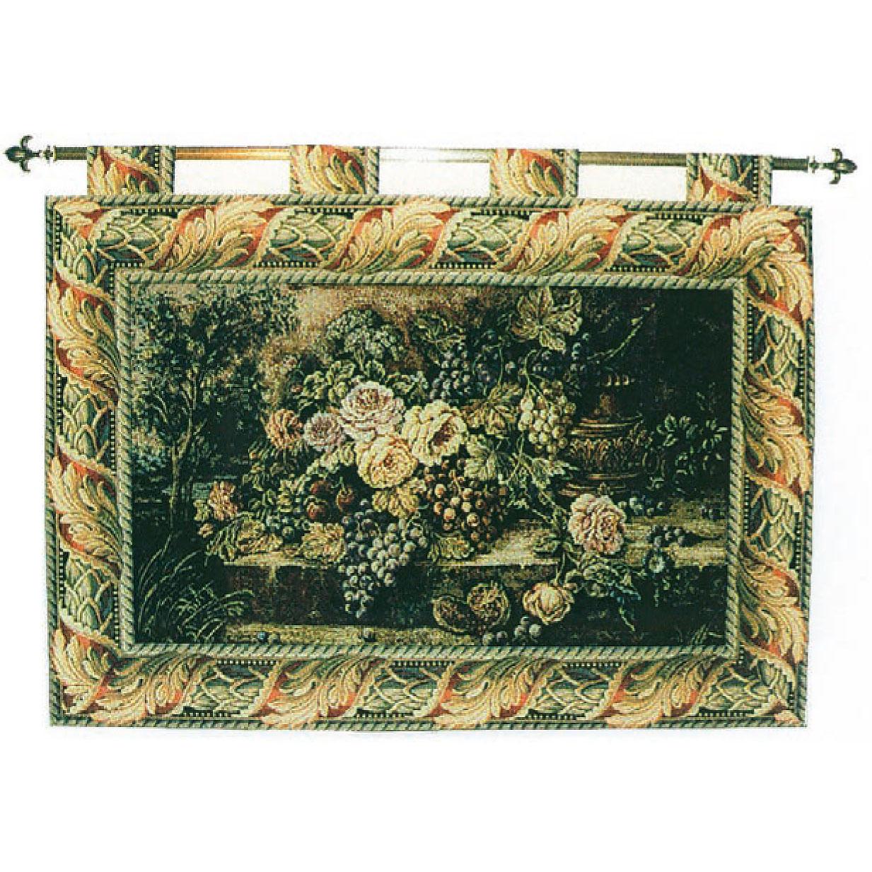 Luka, S1457 Blume - Antik <br> Гобелен Цветы <br>размеры 125х090, 110х075