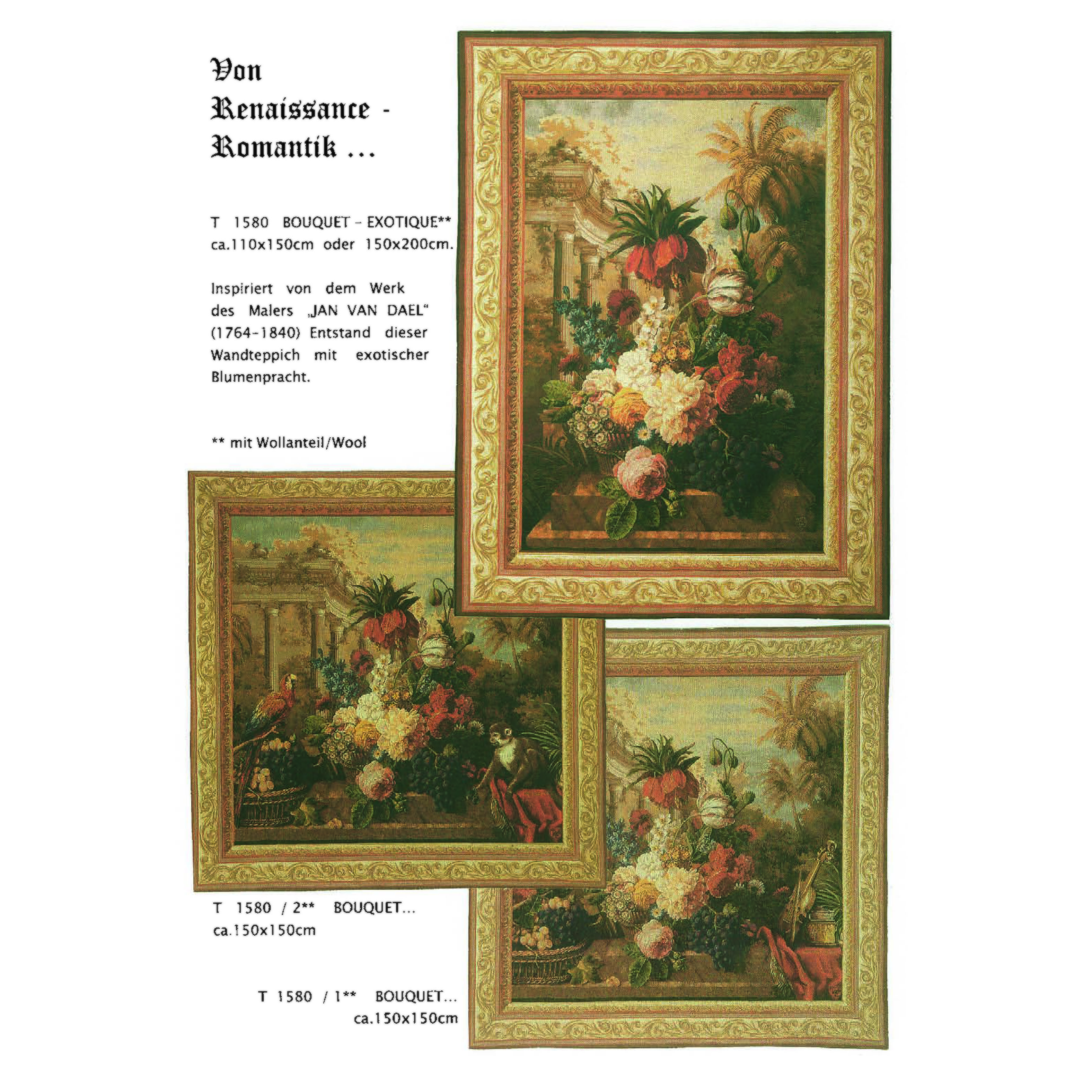 Luka, T1580 Bouquet <br> Гобелен Букет <br>размеры 150х150,  110х150, 150х200