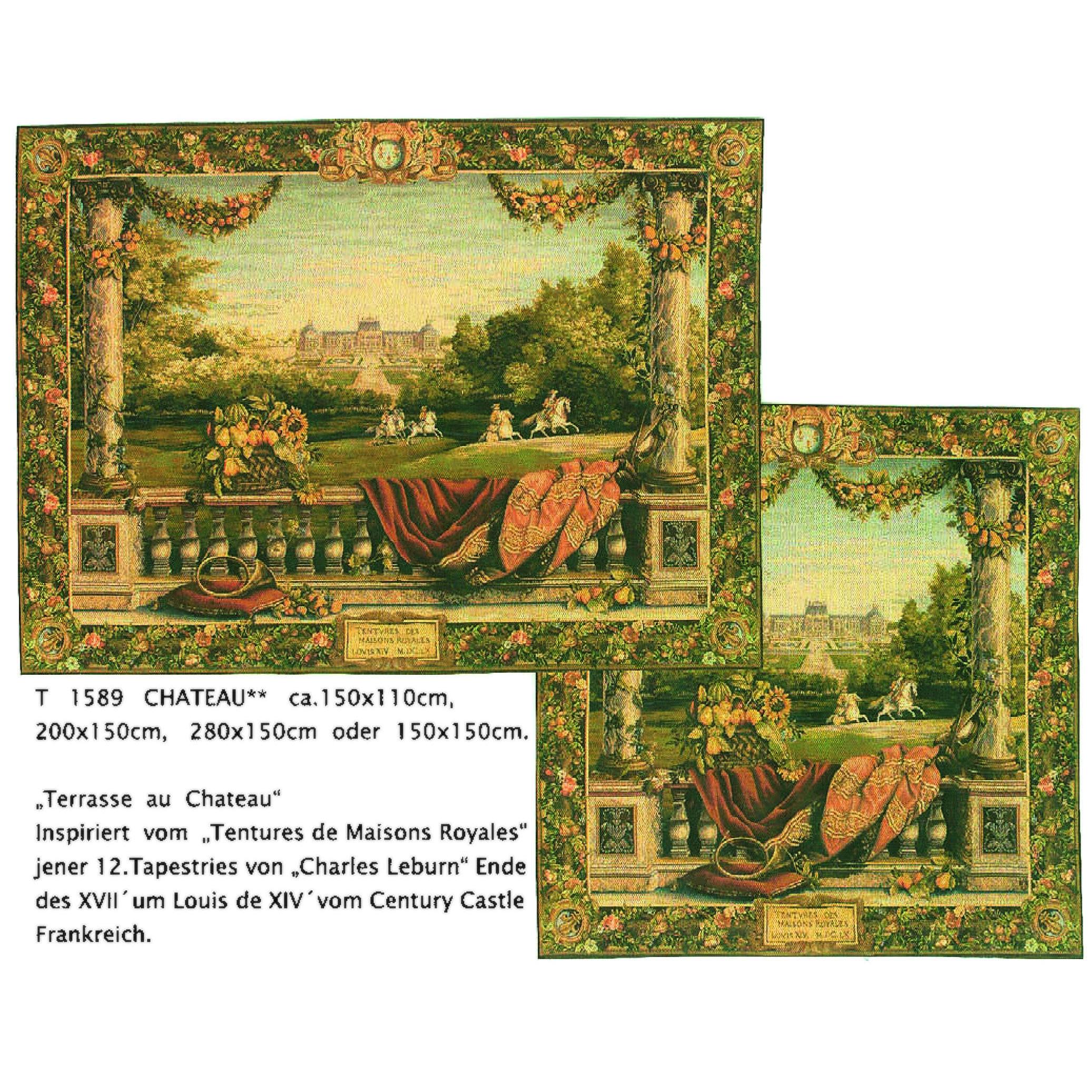 Luka, T1589 Chateau <br> Гобелен Шале <br>размеры 150х110, 200х150, 280х150, 150х150