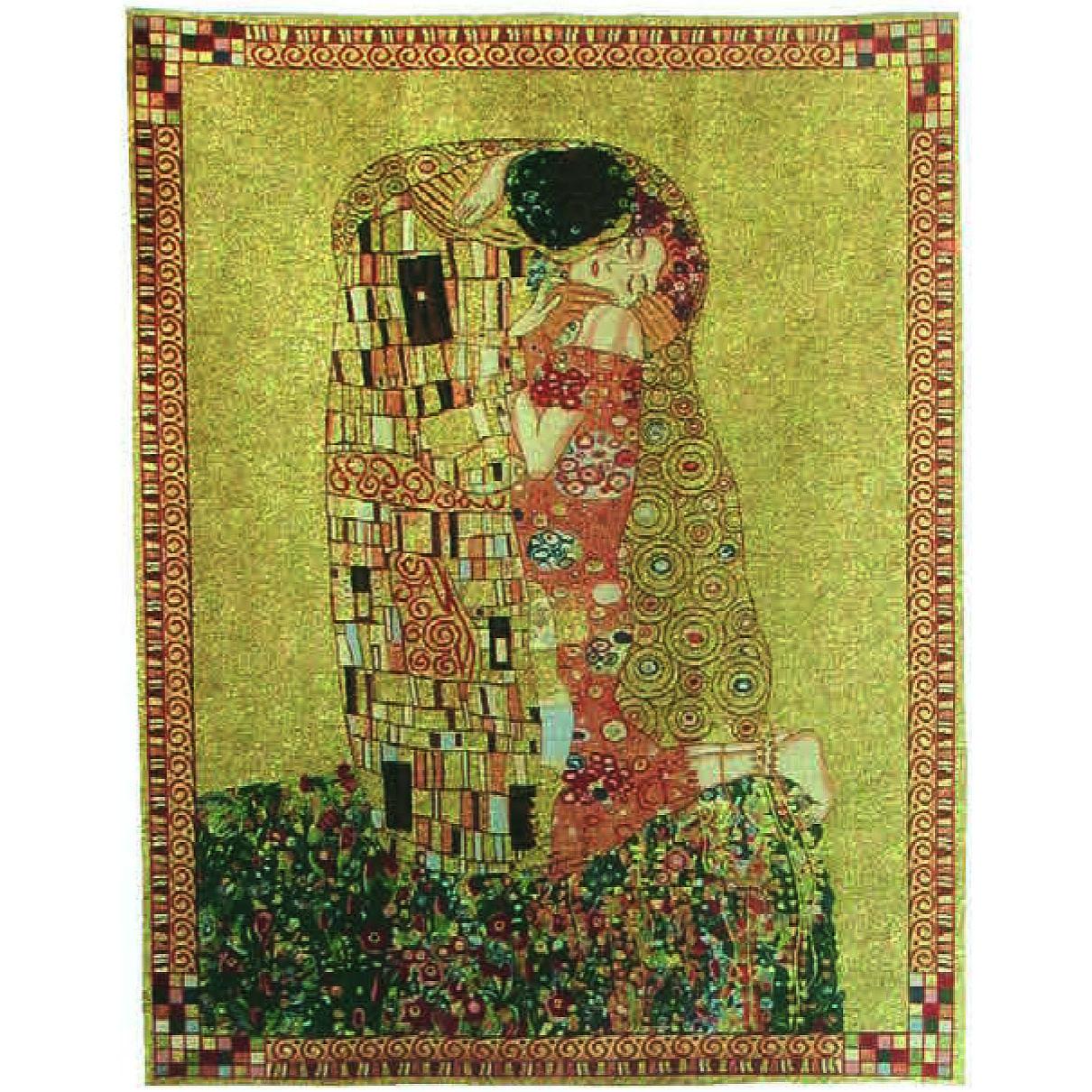 Luka, T1647 Der Kuss Gustav Klimt <br> Гобелен Поцелуй Густав Климт <br>размеры 085х110, 125х175, 175х240