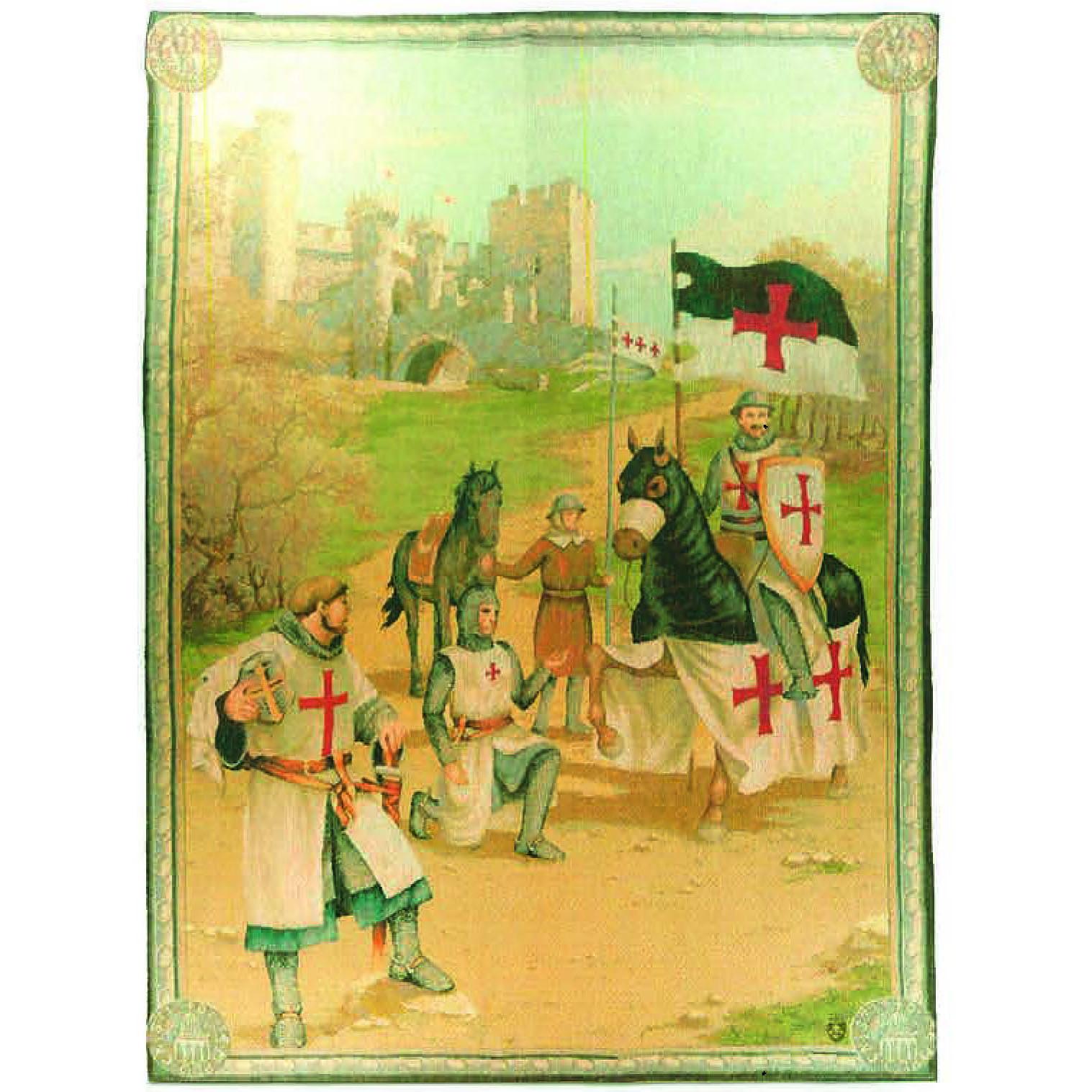 Luka, T1577 Die Tempelritter <br> Гобелен Рыцарский тамплиер <br> размер 110х150