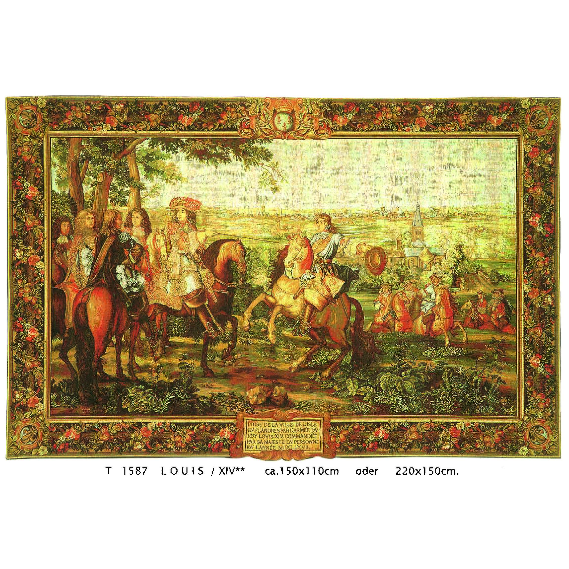 Luka, T1587 Louis XIV <br> Гобелен Луи XIV <br>размеры 150х110, 220х150