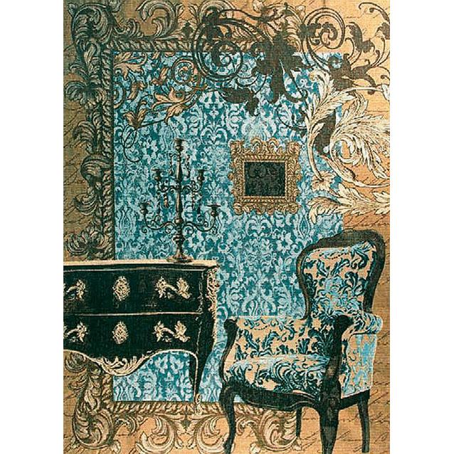 Luka, T1595х2 Mobilier Louis XVI, <br> варианты цвета blau, orange, <br> Гобелен Мебель Луи XVI <br>размеры 110х150 или 150х200