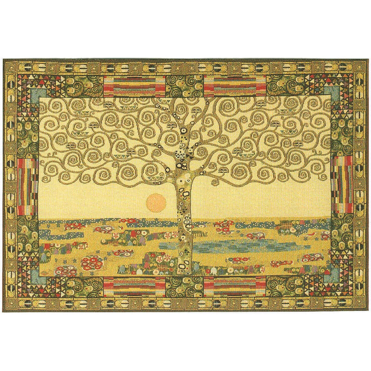 Luka, T1489х1 Tree of Live Gustav Klimt <br> Гобелен Дерево жизни Густав Климт <br>размеры 135х095, 155х065