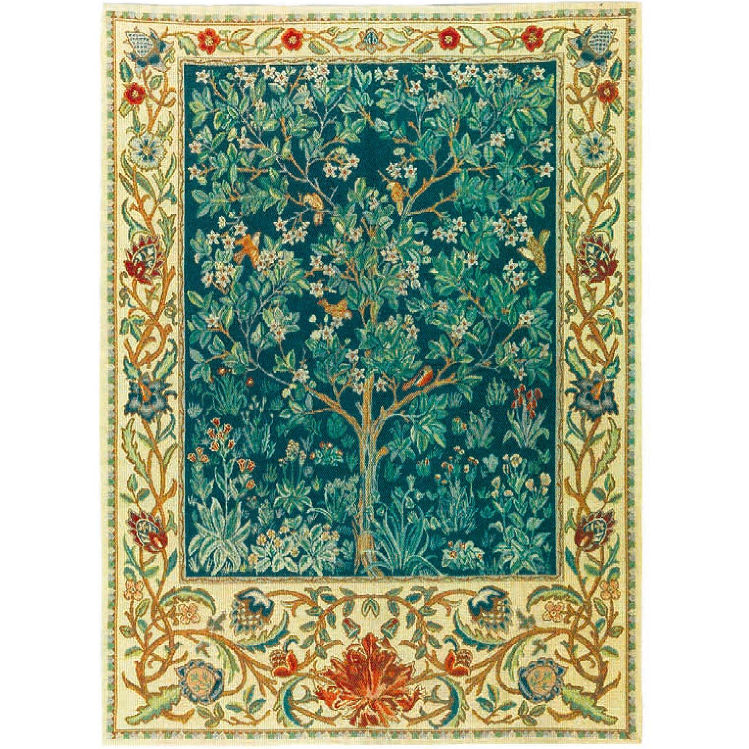 Luka, T1642 Tree of Live х Blau <br> Гобелен Дерево жизни Густав Климт <br> размеры 068х105, 085х120, 130х178, 178х235