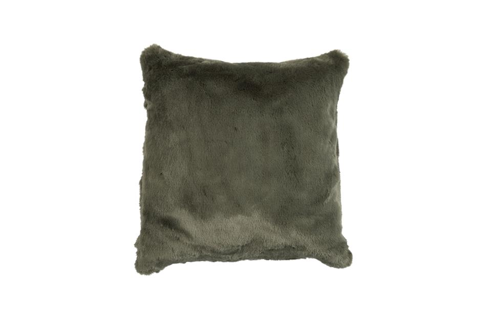Подушка Fine, Collection: Furry<BR>Material: 80 % PAN / 20 % PES<BR>Size: 45 x 45 cm<BR>Артикул: FURRY OLIVE