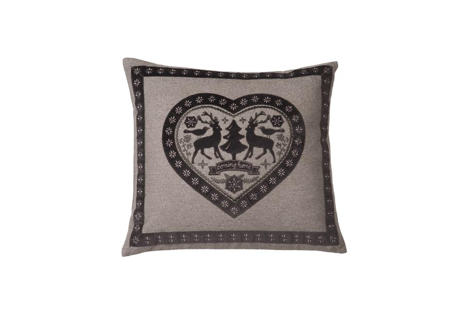 Подушка Fine, Collection: Mountain Deluxe Welcome Home<BR>Material: 42 % WO | 35 % PES | 20 % PAN | 3 % PA<BR>Size: 50 x 45 cm<BR>Артикул: HIRSCHLEIN 140