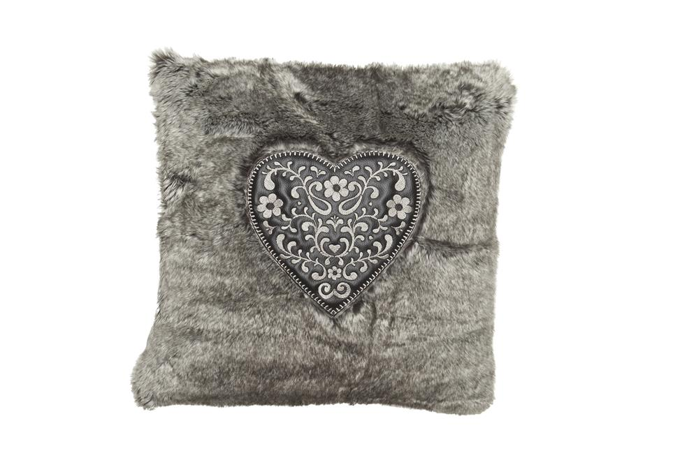 Подушка Fine, Collection: Fashion<BR>Material: 51 % WO / 48 % PES / 1 % PVC (Stickgarn / Embr. yarn : 100 % CV)<BR>Size: 45 x 45 cm<BR>Артикул: SWEET-HEART 179