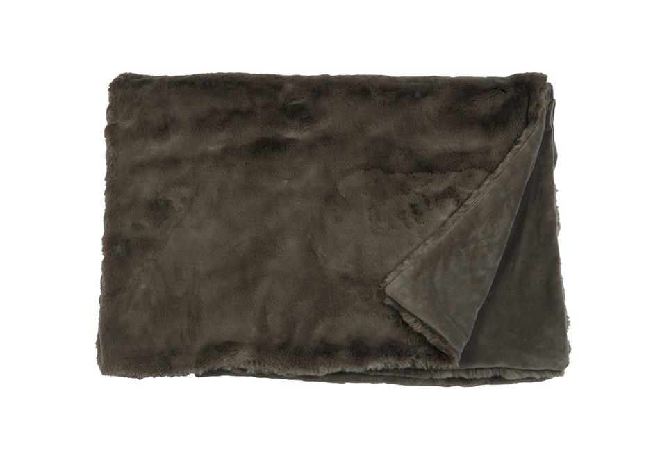 Плед Fine, Collection: Furry<br>Material: Fell / Fur: 80 % PAN / 20 % PES, Ruckseite / Rear: 100 % PES<br>Size: 140 x 190 cm<br>FURRY цвет BROWN