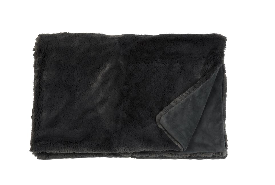 Плед Fine, Collection: Furry<br>Material: Fell / Fur: 80 % PAN / 20 % PES, Ruckseite / Rear: 100 % PES<br>Size: 140 x 190 cm<br>FURRY цвет GREY