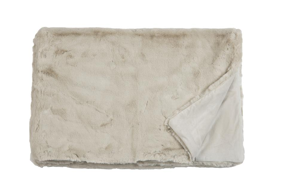 Плед Fine, Collection: Furry<br>Material: Fell / Fur: 80 % PAN / 20 % PES, Ruckseite / Rear: 100 % PES<br>Size: 140 x 190 cm<br>FURRY цвет LINEN