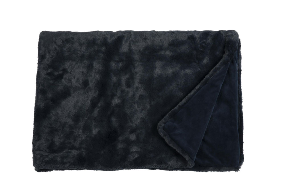 Плед Fine, Collection: Furry<br>Material: Fell / Fur: 80 % PAN / 20 % PES, Ruckseite / Rear: 100 % PES<br>Size: 140 x 190 cm<br>FURRY цвет NAVY