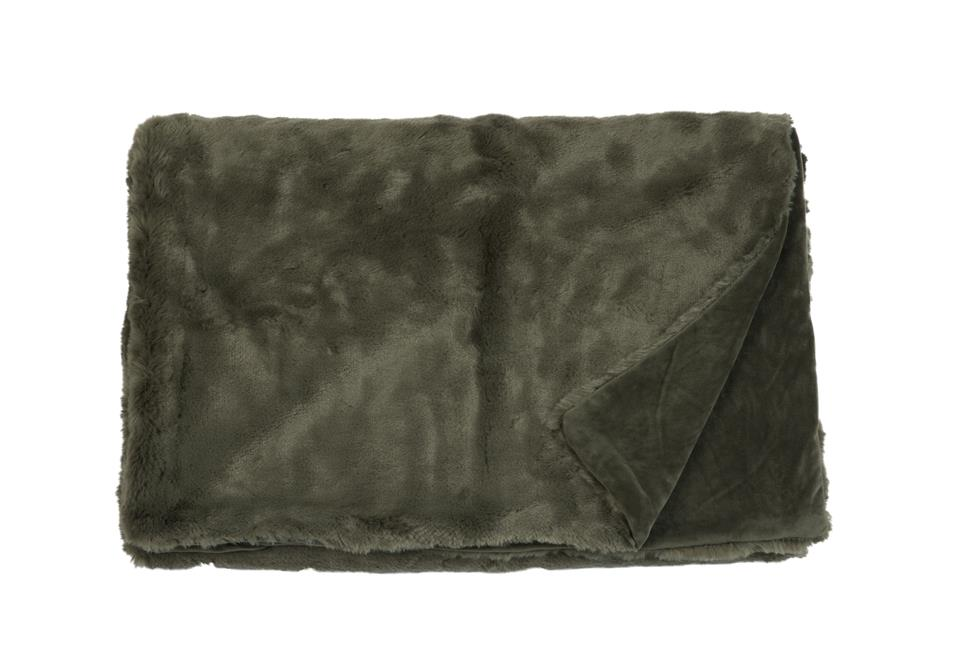 Плед Fine, Collection: Furry<br>Material: Fell / Fur: 80 % PAN / 20 % PES, Ruckseite / Rear: 100 % PES<br>Size: 140 x 190 cm<br>FURRY цвет OLIVE
