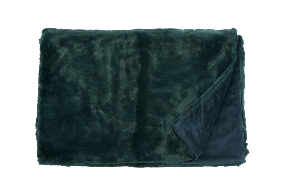 Плед Fine, Collection: Furry<br>Material: Fell / Fur: 80 % PAN / 20 % PES, Ruckseite / Rear: 100 % PES<br>Size: 140 x 190 cm<br>FURRY цвет PETROL