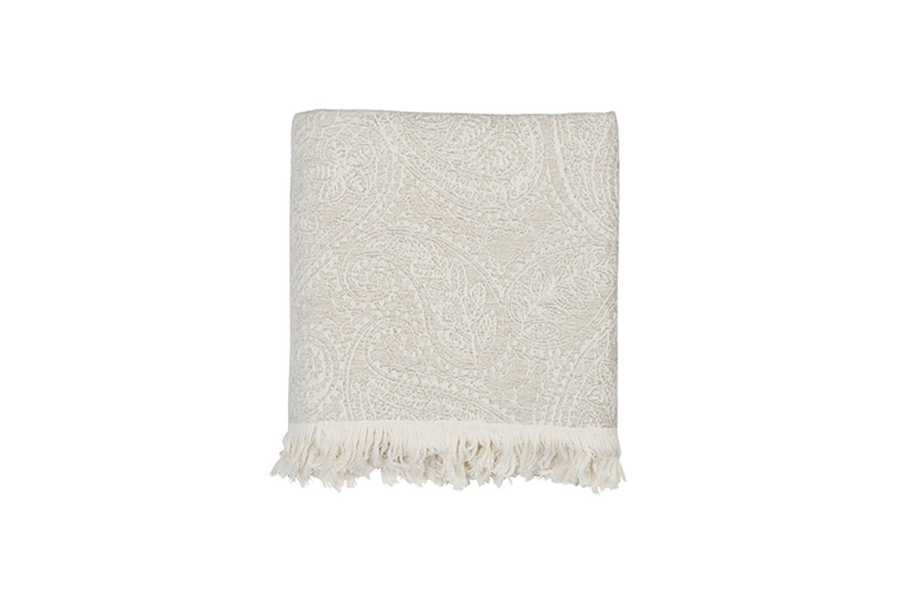 Плед Fine, Collection: Gioia<br>Material: 56 % CO / 44 % CV<br>Size: 125 x 190 cm<br>GIOIA цвет 110 IVORY