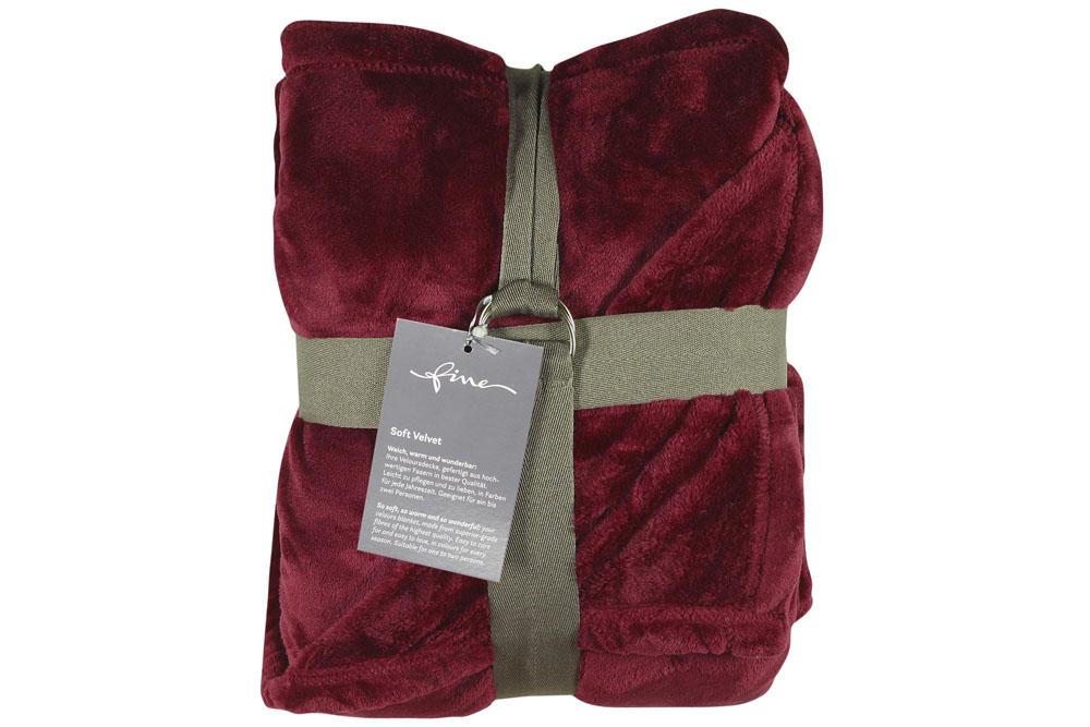 Плед Fine, Collection: Soft Velvet<br>Material: 100 % PES<br>Size: 140 x 200 cm<br>SOFT VELVET 150