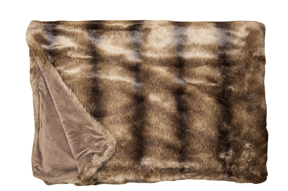 Плед Fine, Collection: Webpelz<br>Material: Fell / Fur: 80 % PAN / 20 % PES, Ruckseite / Reverse: 100 % PES<br>Size: 140 x 190 cm<br>BEAR цвет 142