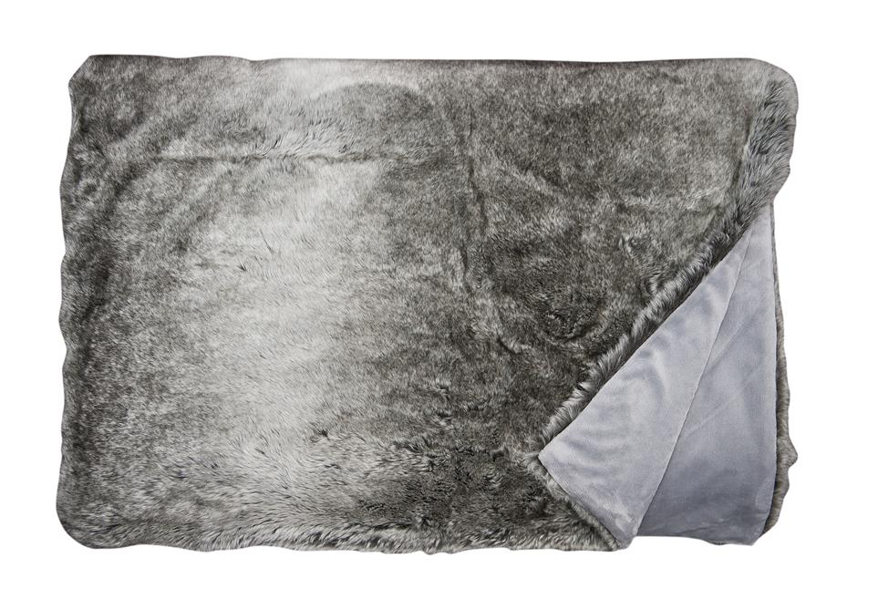 Плед Fine, Collection: Webpelz<br>Material: Fell / Fur: 80 % PAN / 20 % PES, Ruckseite / Reverse: 100 % PES<br>Size: 140 x 190 cm<br>SILVERFOX цвет 170